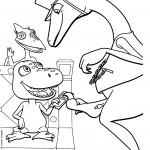 דף צביעה רכבת הדינוזאורים 64