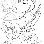דף צביעה רכבת הדינוזאורים 63
