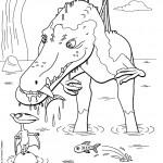 דף צביעה רכבת הדינוזאורים 62