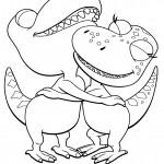 דף צביעה רכבת הדינוזאורים 61