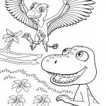 דף צביעה רכבת הדינוזאורים 60