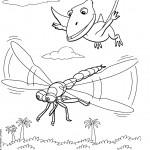 דף צביעה רכבת הדינוזאורים 59