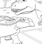 דף צביעה רכבת הדינוזאורים 58