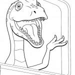 דף צביעה רכבת הדינוזאורים 54