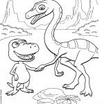 דף צביעה רכבת הדינוזאורים 52