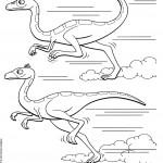 דף צביעה רכבת הדינוזאורים 53
