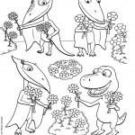דף צביעה רכבת הדינוזאורים 51