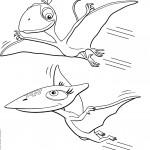 דף צביעה רכבת הדינוזאורים 48