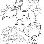 דף צביעה רכבת הדינוזאורים 47
