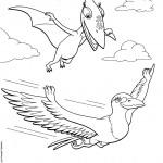 דף צביעה רכבת הדינוזאורים 46