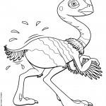 דף צביעה רכבת הדינוזאורים 45