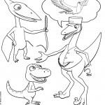 דף צביעה רכבת הדינוזאורים 43