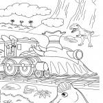 דף צביעה רכבת הדינוזאורים 42