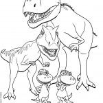דף צביעה רכבת הדינוזאורים 41