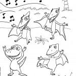 דף צביעה רכבת הדינוזאורים 39
