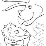 דף צביעה רכבת הדינוזאורים 35