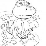 דף צביעה רכבת הדינוזאורים 34