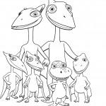 דף צביעה רכבת הדינוזאורים 31