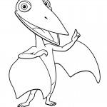 דף צביעה רכבת הדינוזאורים 30