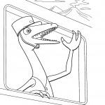 דף צביעה רכבת הדינוזאורים 28