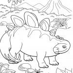 דף צביעה רכבת הדינוזאורים 27