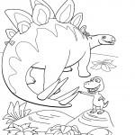 דף צביעה רכבת הדינוזאורים 26