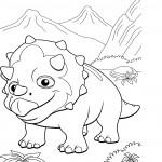 דף צביעה רכבת הדינוזאורים 25