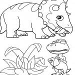 דף צביעה רכבת הדינוזאורים 24