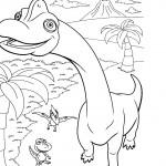דף צביעה רכבת הדינוזאורים 23