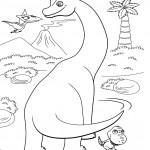 דף צביעה רכבת הדינוזאורים 22