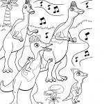 דף צביעה רכבת הדינוזאורים 20
