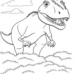 דף צביעה רכבת הדינוזאורים 19