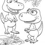 דף צביעה רכבת הדינוזאורים 18