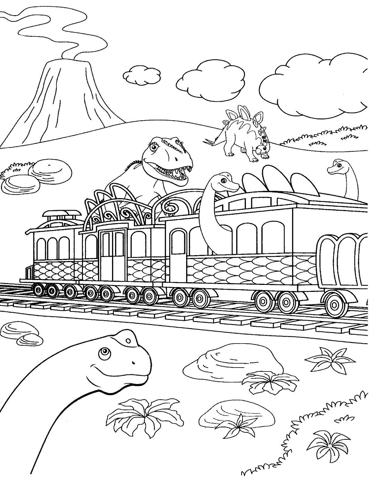 dinosaur train coloring pages dongs - photo#34