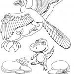דף צביעה רכבת הדינוזאורים 14