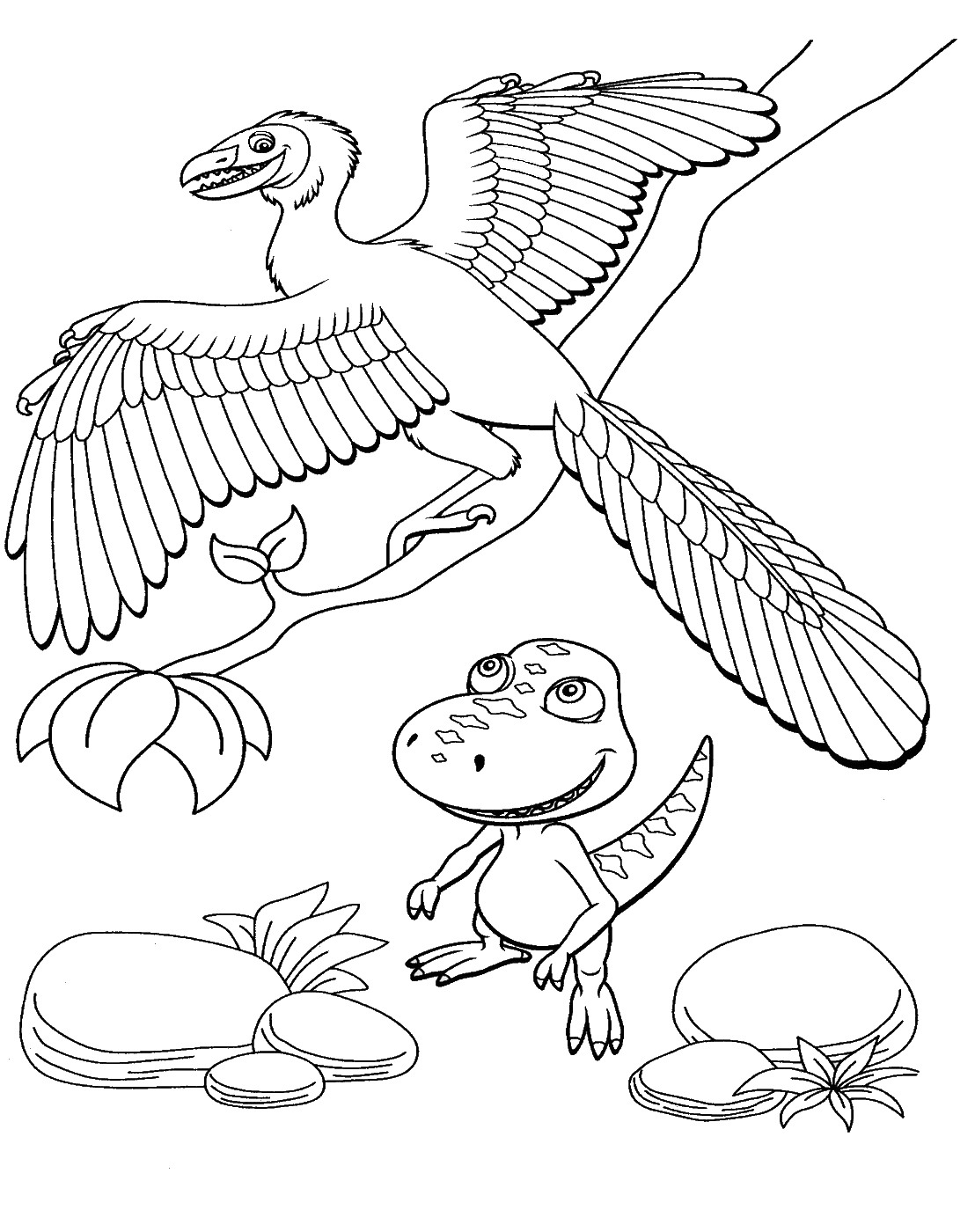 Dinosaur train coloring pages donut