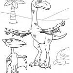 דף צביעה רכבת הדינוזאורים 13