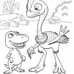 דף צביעה רכבת הדינוזאורים 12