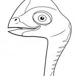 דף צביעה רכבת הדינוזאורים 11