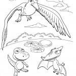 דף צביעה רכבת הדינוזאורים 10
