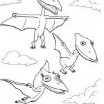 דף צביעה רכבת הדינוזאורים 9