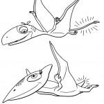 דף צביעה רכבת הדינוזאורים 8