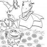 דף צביעה רכבת הדינוזאורים 6