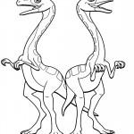דף צביעה רכבת הדינוזאורים 5