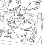 דף צביעה רכבת הדינוזאורים 2