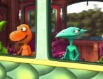 לחצו על דפי הצביעה של רכבת הדינוזאורים להגדלה ולהדפסה
