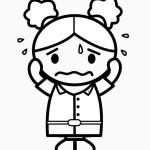דף צביעה רגשות - עצב