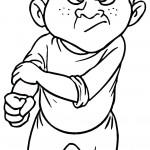 דף צביעה רגשות - כעס