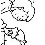 דף צביעה רגשות - אהבה