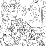 דף צביעה ארבעת המופלאים 34